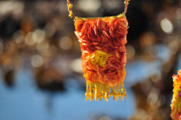 Turn your leftover pieces of fabrics into textile jewelry