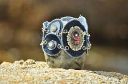 Denim scraps- bracelet